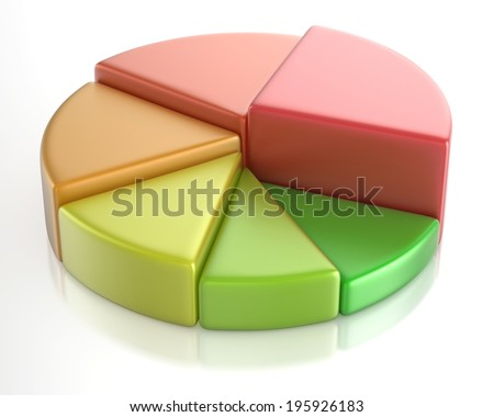 Multicolored Elevated Pie Chart