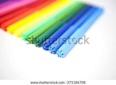 Multicolored Felt-Tip Pens - stock photo