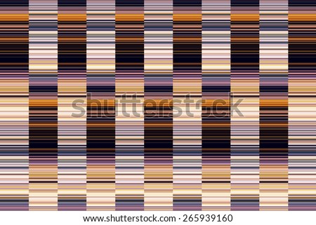 Multicolored geometric abstract of columns with many short stripes, like a large bar code, to illustrate themes of alternation and complexity - stock photo
