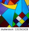 Multicolored glass mosaic background - stock photo