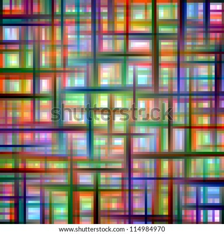 Multicolored grid matrix abstract pattern. - stock photo