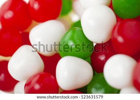 Multicolored gumballs isolated on