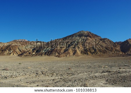 Multicolored hills, Death Valley, California
