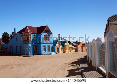 multicolored houses - stock photo