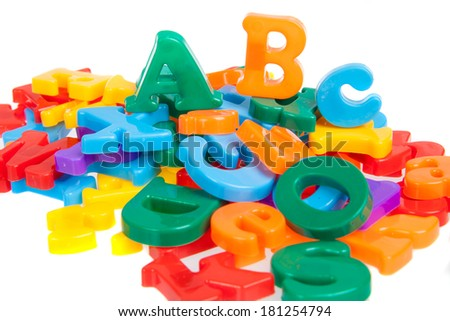 Multicolored letters