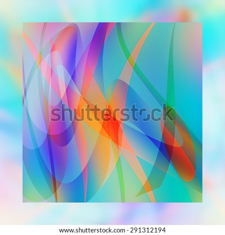Multicolored motion digital abstract  - stock photo