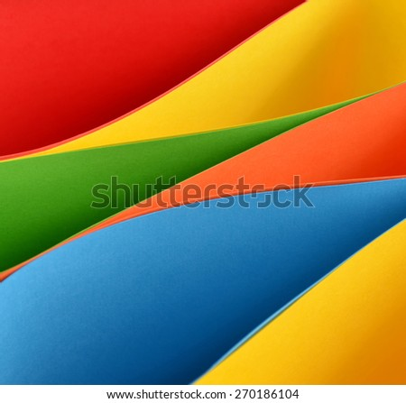 Multicolored papers forming abstract background