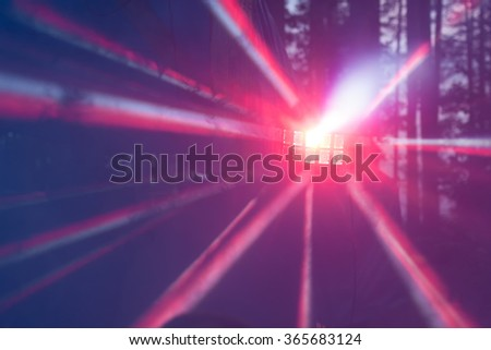 Multicolored rays of light - stock photo