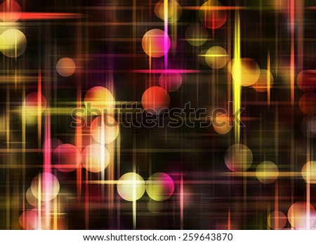Multicolored Round Shapes in Chaotic Arrangement. Bokeh backgrounds