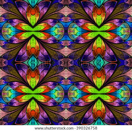 Multicolored seamless background in stained-glass window style. You can use it for invitations, notebook covers, phone case, postcards, cards, wallpapers and so on. Artwork for creative design, art  - stock photo