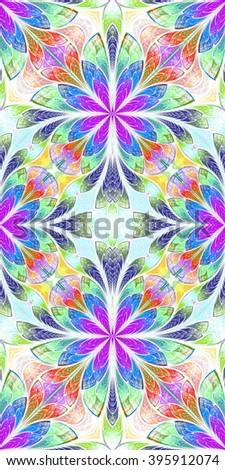 Multicolored seamless background in stained glass window style. You can use it for invitations, phone covers, postcards, cards, wallpapers and so on. Artwork for creative design, art and entertainment - stock photo