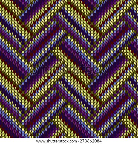 Multicolored Seamless Spring Knitted Pattern. Green Blue Red Lilac Color Swatch - stock photo