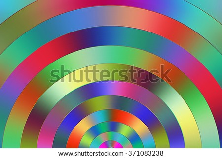 Multicolored semi circular graduated colors.