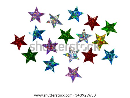 multicolored shiny star shaped confetti