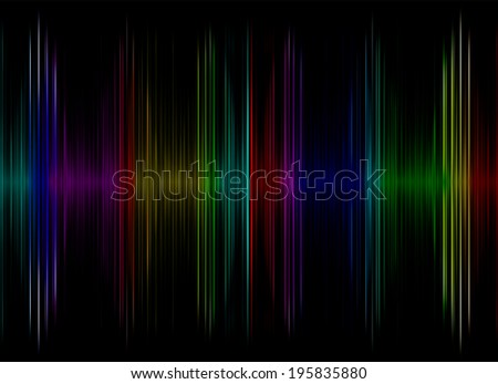 Multicolored sound equalizer display as abstract  background.Digitally generated image. - stock photo
