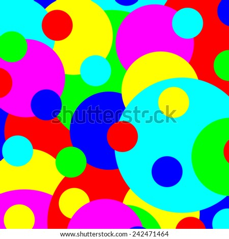 Multicolored various size spots abstract illustration. - stock photo