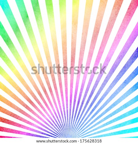 Multicolored vintage ray pattern background