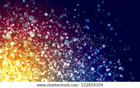 Multicolour bokeh abstract light background. Illustration background