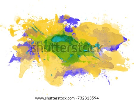 Colorful world map paint splashes stock illustration 136945253 multicoloured spot watercolour abstract hand painted background gumiabroncs Images