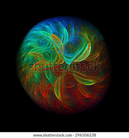 Multicoloured World abstract illustration - stock photo