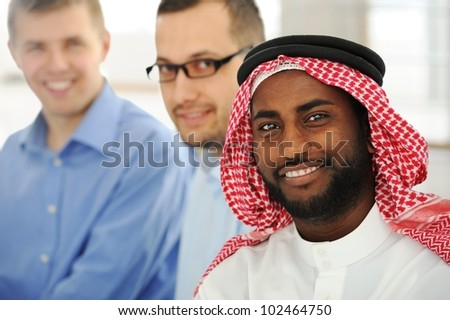 Multicultural young business team - stock photo