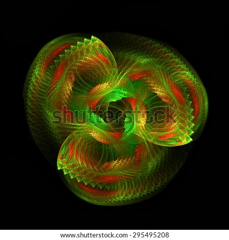 Multidimensional Spiral abstract illustration - stock photo