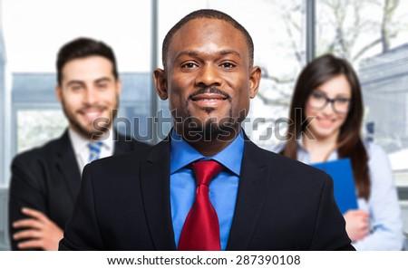 Multiethnic business team - stock photo