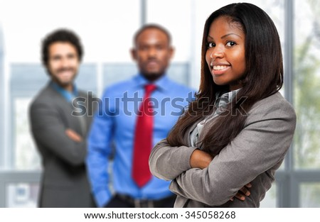 Multiethnic business team - stock photo