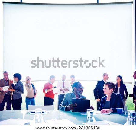Multiethnic Group of People Meeting in the Office Concept - stock photo