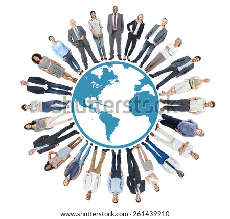 Multiethnic Group of People with Global Communication - stock photo