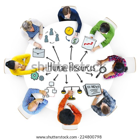 Multiethnic Group of People with Human Resources Concept - stock photo