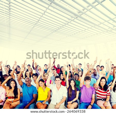 Multiethnic People Student Lecture Room Concept - stock photo