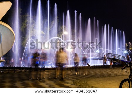 Multimedia laser colorful musical show in Batumi - singing fountains.