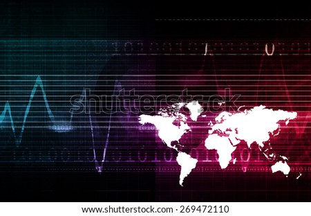 Multimedia Technology Background as a Art Concept background - stock photo