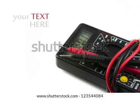 Multimeter, tester isolated on the white background. - stock photo