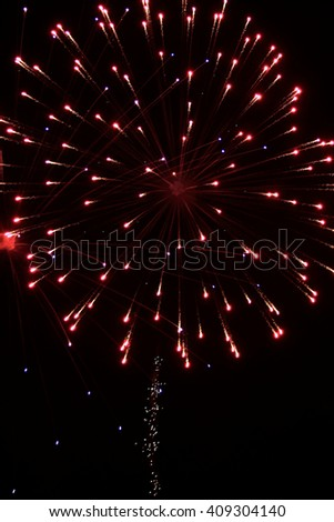 Multiple Fireworks - red