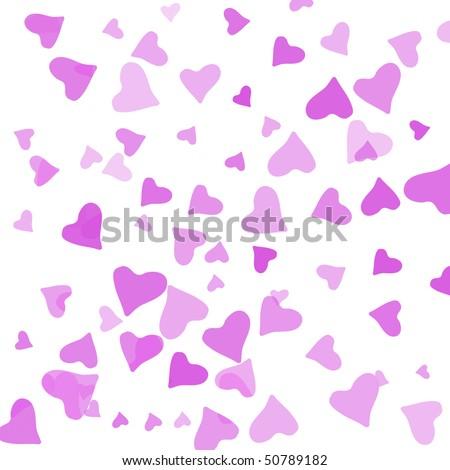 multiple pink heart - stock photo