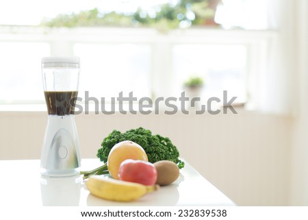 Multiple purpose blender machine great for blending foods in the kitchen - stock photo
