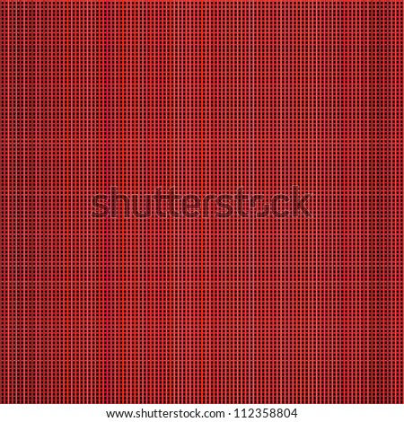 multiple red pink 3d grid cloth like pattern backdrop - stock photo