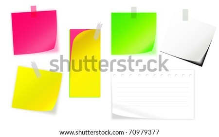 Multiple style Short Note Paper - stock photo