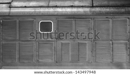 multiple ventilation air grille - stock photo
