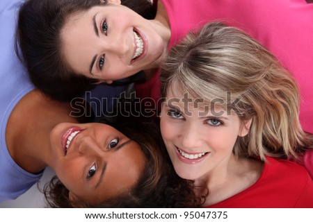 Multiracial friends - stock photo