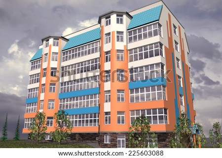 Multistorey building structure building social housing neighborhood