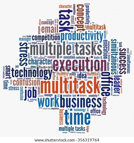 Multitrask in word collage
