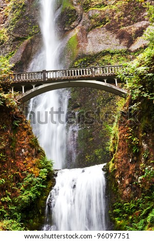 Multnomah Falls in Oregon - stock photo