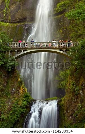 Multnomah Falls Oregon Usa Columbia River Stock Photo
