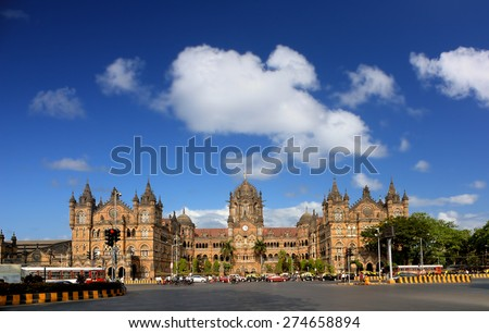 Mumbai India Chhatrapati Shivaji Terminus UNESCO historic Indian terminal