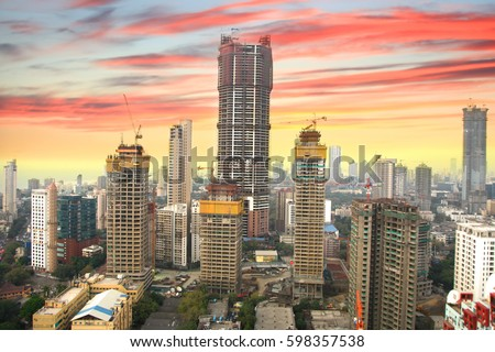 Mumbai, INDIA - December 6 : Mumbai is the financial,commercial and entertainment capital of India, on December 6,2015 Mumbai, India