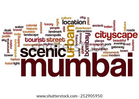 Mumbai word cloud concept - stock photo