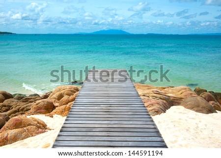 Mun Nork island, Rayong province, Thailand - stock photo